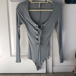 Grey bodysuit